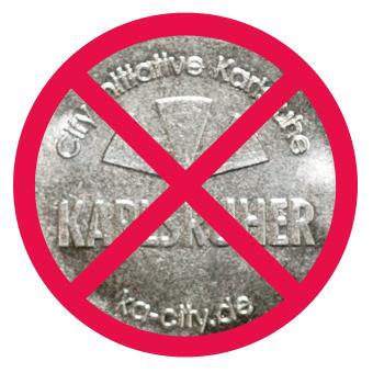 Der Karlsruher - Leider nirgends sind die Parkmünzen zu haben.